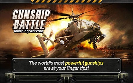 GUNSHIP BATTLE: Helicopter 3D 2.5.11 دانلود بازی نبرد هلیکوپتر جنگی اندروید + مود + دیتا
