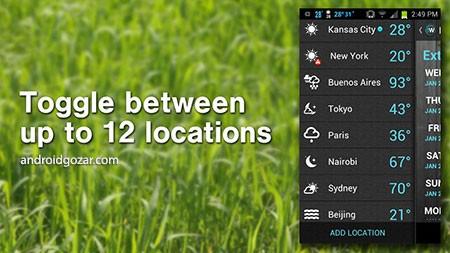 دانلود 1Weather Pro 5.1.3.1 برنامه هواشناسی اندروید