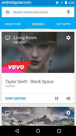 Google Home 1.26.30.8 تماشای فیلم آنلاین در تلویزیون با اندروید