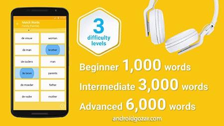 Learn Dutch 6000 Words Full 4.9 دانلود نرم افزار آموزش زبان هلندی