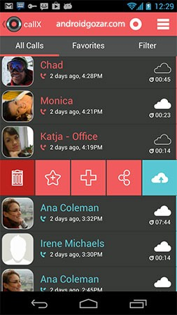 callX Automatic Call Recorder Premium 6.9 ضبط تماس اندروید