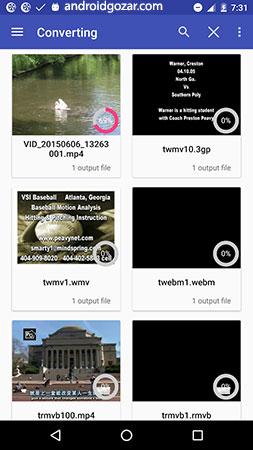 Audio/Video Converter Android Premium 3.2.11 دانلود نرم افزار تبدیل فرمت ویدئو در اندروید
