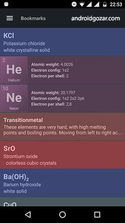 دانلود Periodic Table 1.0.1 برنامه جدول تناوبی و نمودار حلالیت