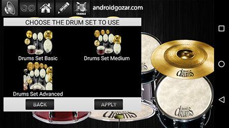 Drums Droid HD 2016 4.8.8 دانلود نرم افزار درام کیت