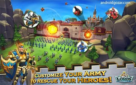 دانلود Lords Mobile 2.44 بازی پادشاهان موبایل اندروید