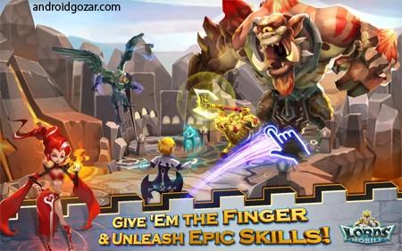 Lords Mobile 2.1 دانلود بازی استراتژی پادشاهان موبایل اندروید + مود
