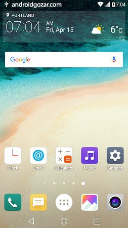 G5 UX 5.0 Theme for LGHome 2.1 دانلود تم ال جی جی 5 برای گوشی های ال جی