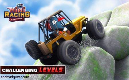 Mini Racing Adventures 1.18 دانلود بازی ماشین سواری چند نفره اندروید + مود