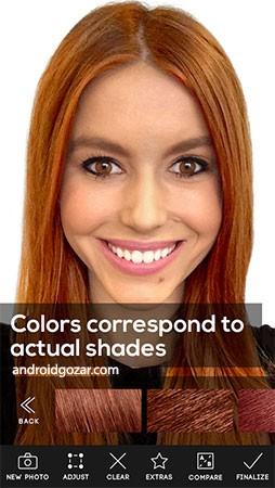 Hair Color Studio Premium 1.7 دانلود نرم افزار استودیو رنگ مو اندروید