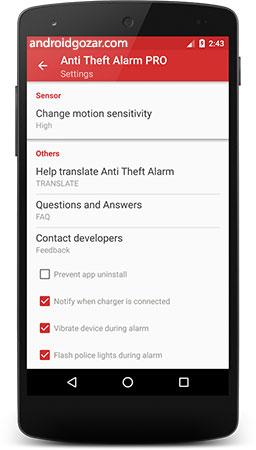 Anti-Theft Alarm PRO 1.7 دانلود نرم افزار آژیر ضد سرقت