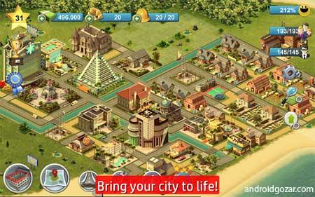 دانلود City Island 4: Sim Tycoon 3.1.1 بازی جزيره شهر 4 اندروید + مود