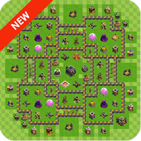 Maps of Clash Of Clans 1.25 دانلود مپ های کلش اف کلنز