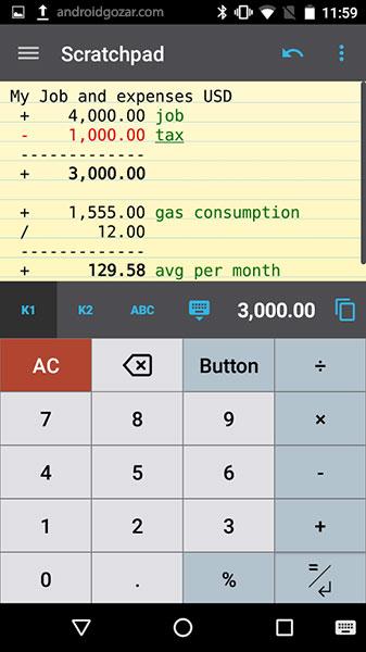 CalcTape Pro Tape Calculator 2.0.1 دانلود نرم افزار ماشین حساب حرفه ای