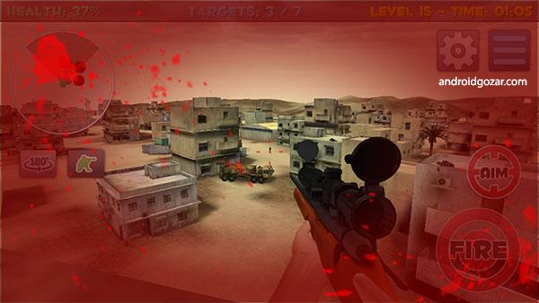Sniper Commando Assassin 3D 1.00 دانلود بازی قاتل کماندوی تک تیرانداز + مود