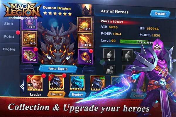 Magic Legion 2.0.0.9 دانلود بازی نقش آفرینی سپاه جادویی اندروید