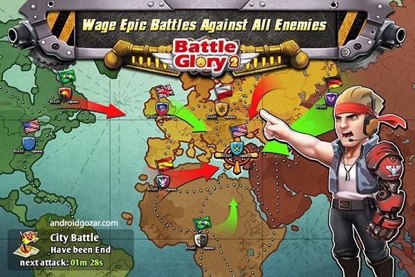 Battle Glory 2 4.06 دانلود بازی افتخار نبرد 2 اندروید