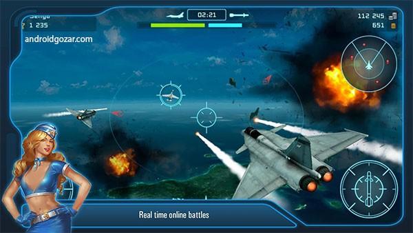Battle of Warplanes: Air Wings 2.18 دانلود بازی نبرد هواپیماهای جنگی+دیتا