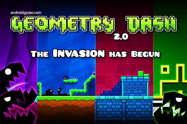 Geometry Dash 2.111 دانلود بازی پلتفرمر پرش و عبور از موانع اندروید + مود آنلاک