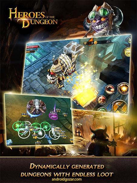 Heroes of the Dungeon 2.2.0 دانلود بازی قهرمانان سیاه چال+مود+دیتا