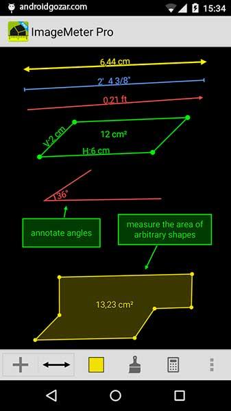 دانلود ImageMeter Pro 3.5.17 برنامه اندازه گیری ابعاد از روی عکس اندروید