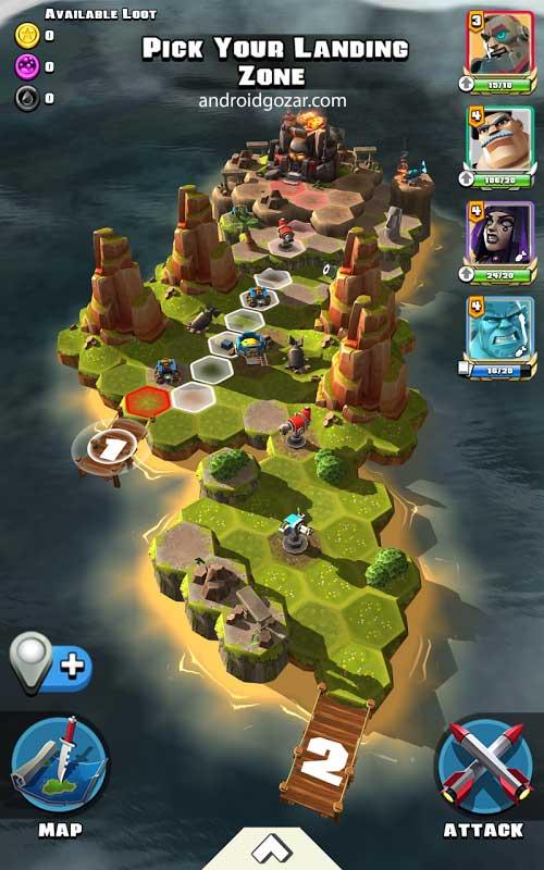 RAID HQ 4.301 دانلود بازی ساخت قلعه شکست ناپذیر اندروید + مود