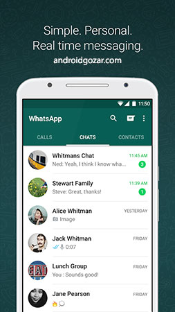WhatsApp Messenger 2.20.380 دانلود ورژن جدید واتساپ اندروید