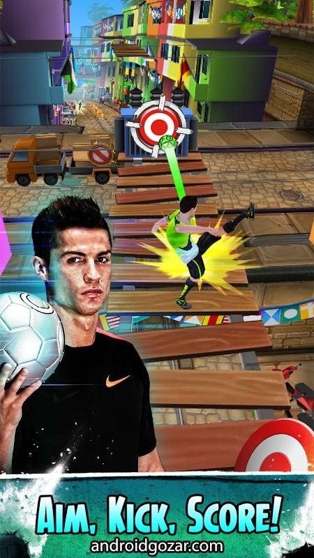 دانلود Cristiano Ronaldo: Kick'n'Run 1.0.35 بازی فوتبال کریستیانو رونالدو + مود