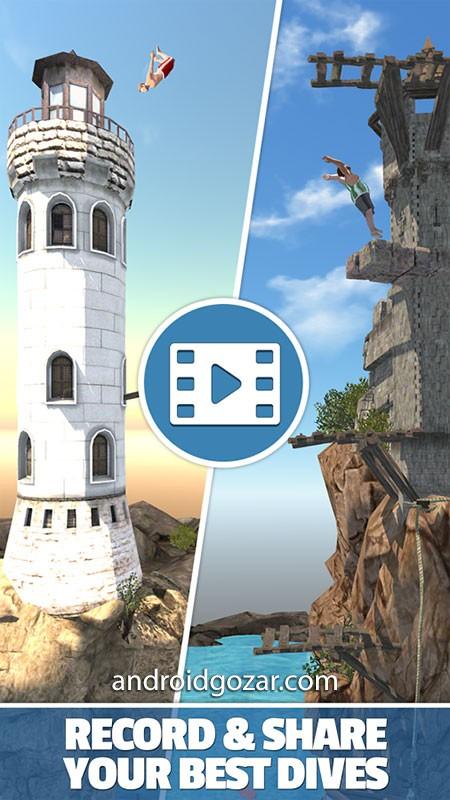 Flip Diving 2.9.11 دانلود بازی شیرجه از صخره اندروید + مود
