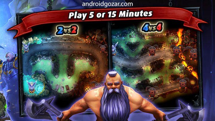 Heroes of SoulCraft – MOBA 2.0.1 دانلود بازی جنگ قهرمانان اندروید