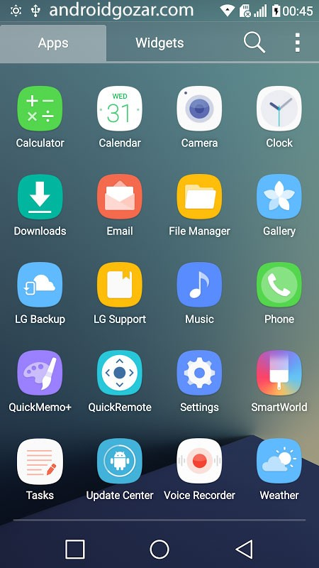 N7 Theme for LG Home 1.0 دانلود تم گلکسی نوت 7 برای دستگاه های ال جی