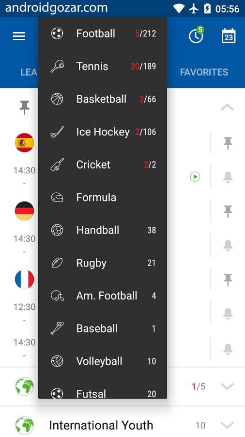 SofaScore Live Score Pro 5.68.3 نتایج زنده مسابقات ورزشی