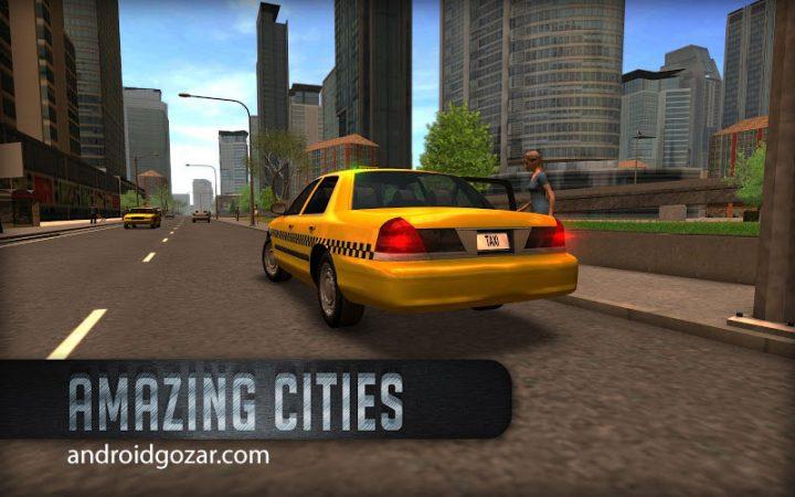 دانلود Taxi Sim 2016 3.1 بازی رانندگی تاکسی خطی اندروید + مود