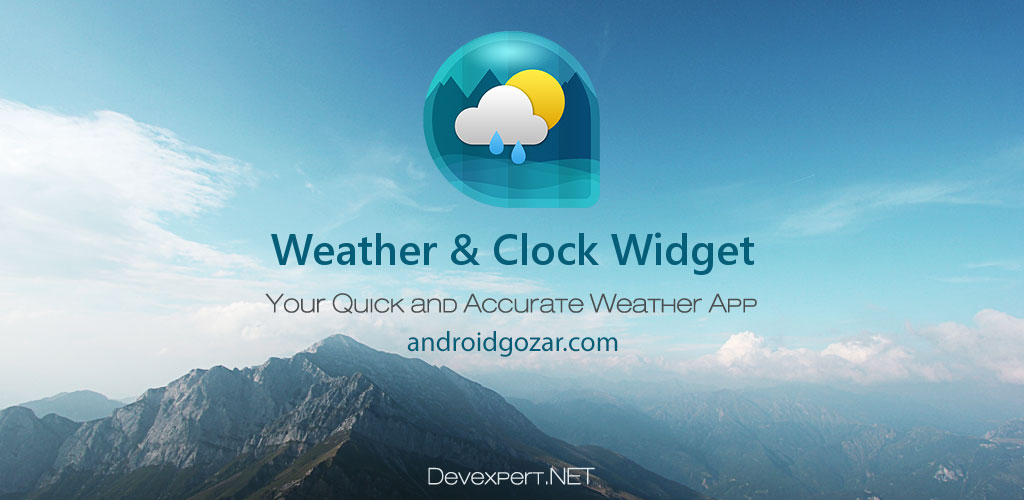 Weather & Clock Widget Ad Free 3.9.0.1 وضعیت آب و هوا