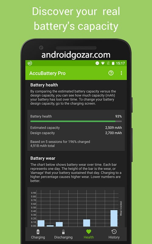 AccuBattery Pro 1.1.9b بهینه سازی علمی سلامت و عملکرد باتری اندروید