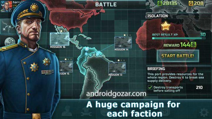 Art Of War 3 1.0.77 دانلود بازی استراتژی هنر جنگ 3 اندروید