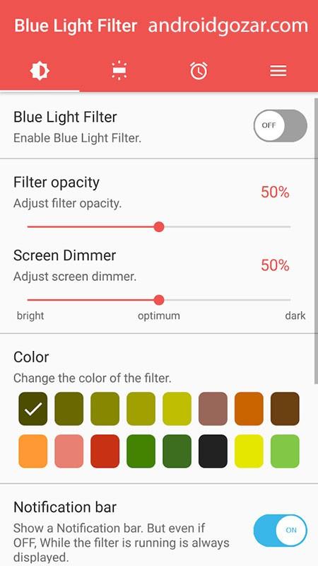 Blue Light Screen Filter Pro 1.2.3 دانلود نرم افزار فیلتر نور آبی صفحه نمایش
