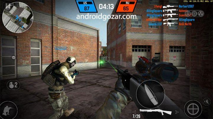 Bullet Force 1.63.1 دانلود بازی اکشن تیراندازی زور تفنگ اندروید + مود