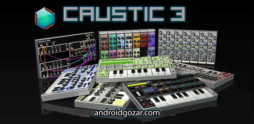 Caustic 3 Pro 3.2.0 دانلود نرم افزار ساخت موزیک حرفه ای اندروید