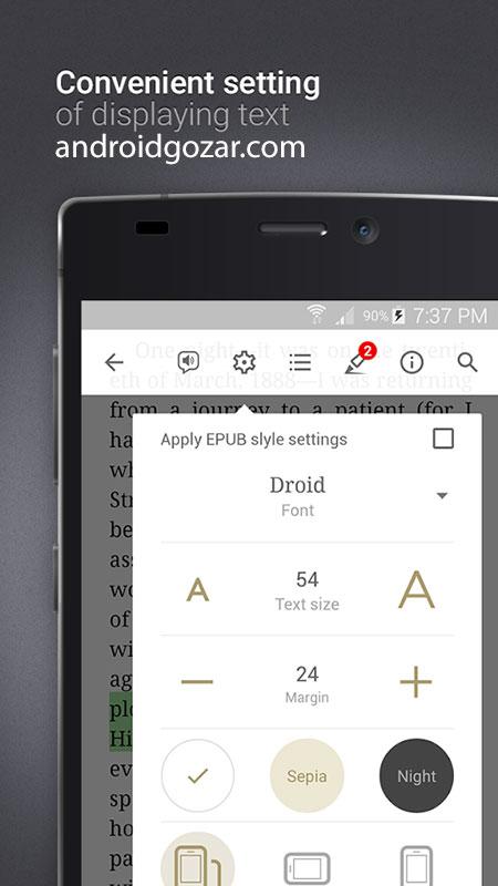 دانلود eReader Prestigio: Book Reader Pro 6.5.0 برنامه کتابخوان اندروید