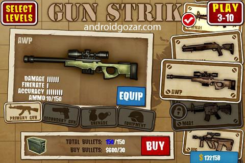 Gun Strike 1.5.2 دانلود بازی تیراندازی اول شخص ضربه تفنگ + مود