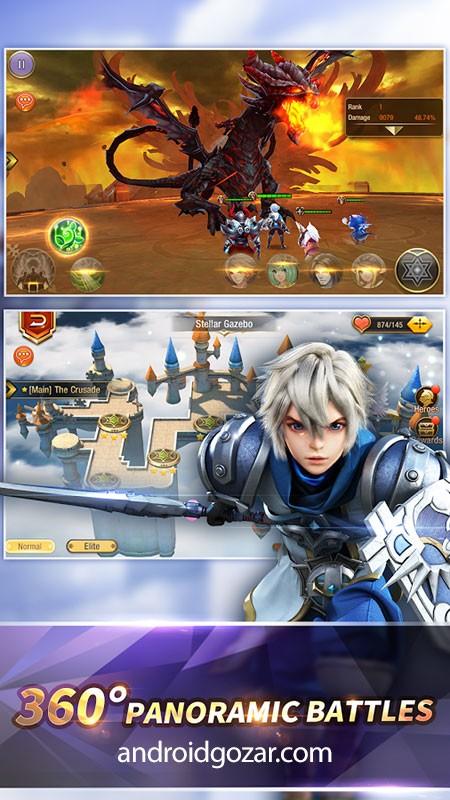Heroes Warsong 1.8 دانلود بازی آواز جنگ قهرمانان اندروید