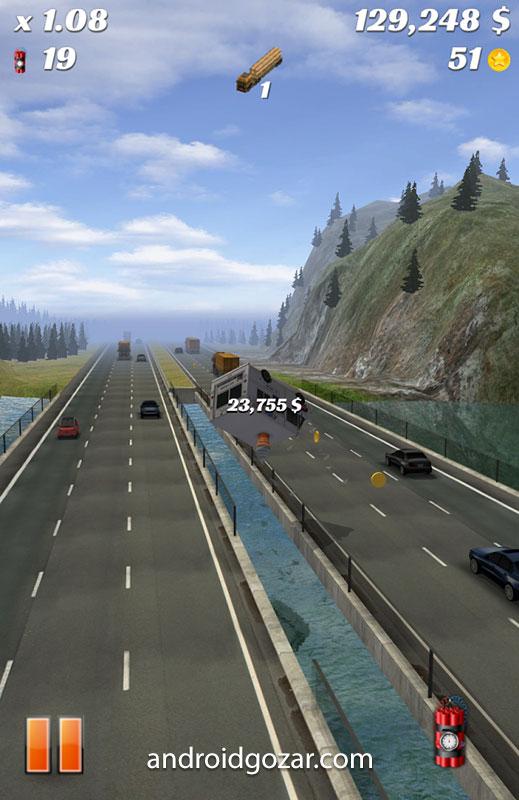 Highway Crash Derby 1.8.0 دانلود بازی ماشین سواری در اتوبان اندروید + مود