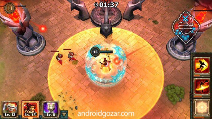 Legendary Heroes MOBA 3.0.52 دانلود بازی قهرمانان افسانه ای اندروید + مود