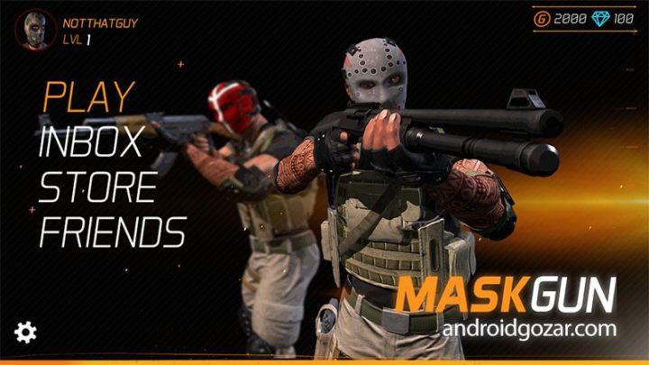 MaskGun – Multiplayer FPS 2.360 دانلود بازی تفنگی چند نفره اندروید + مود