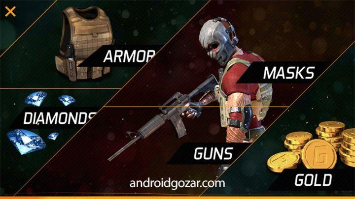 دانلود MaskGun Multiplayer FPS 2.611 بازی تفنگی چند نفره اندروید + مود