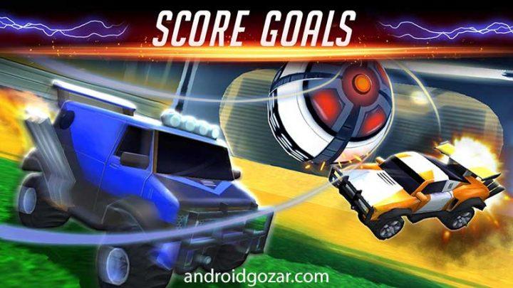 Rocketball: Championship Cup 1.1.1 دانلود بازی فوتبال اتومبیل ها اندروید + مود