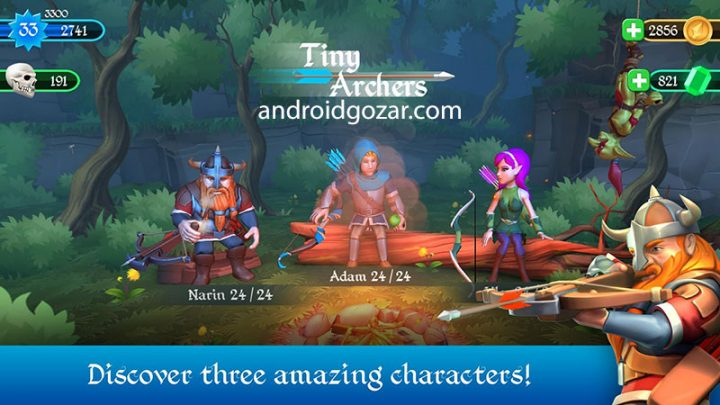 Tiny Archers 1.33.05.0 دانلود بازی کمانداران کوچک اندروید + مود