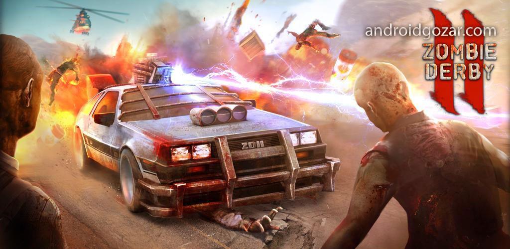 دانلود Zombie Derby 2 1.0.14 بازی ماشین سواری زامبی دربی 2 اندروید + مود
