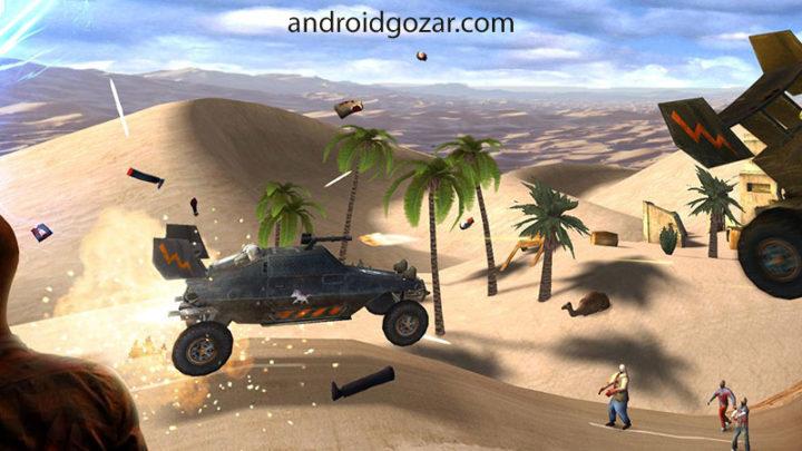 دانلود Zombie Derby 2 1.0.13 بازی ماشین سواری زامبی دربی 2 اندروید + مود