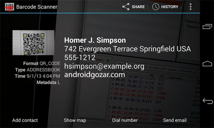 Barcode Scanner 4.7.8 دانلود نرم افزار بارکد خوان اندروید